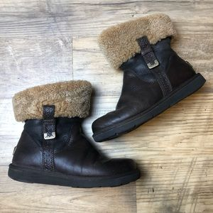 UGG Locarno Brown Short Size 8